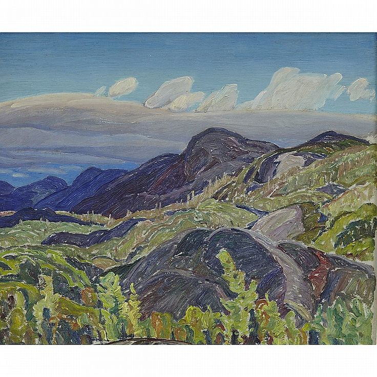 """Summer Landscape,"" Franklin Carmichael, oil on board, 10 x 12"", private collection."
