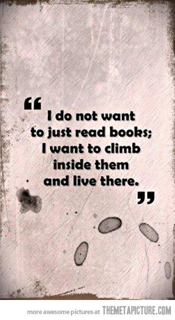 What I want to do with books…