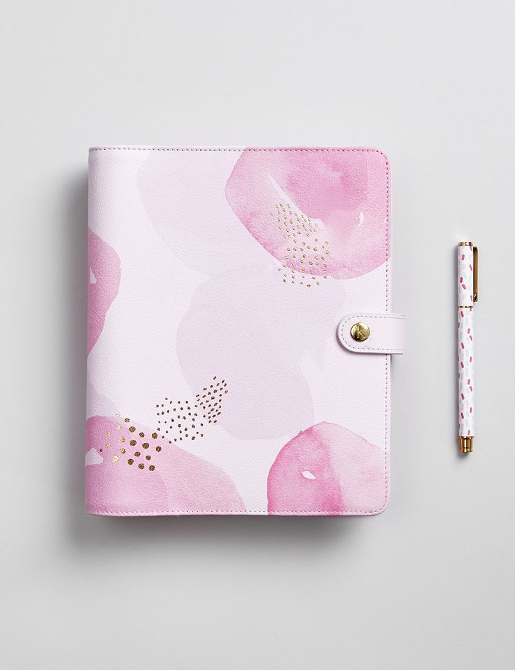 Get organised in style and join the planner love with this pretty Pink Lavender Planner
