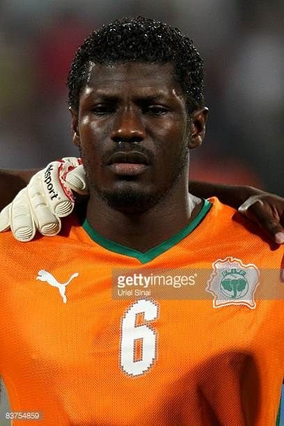 Ivory Coast player Didier Zokora ahead of the international friendly match between Israel and Ivory Coast on November 19 2008 at Ramat Gan Staduim...