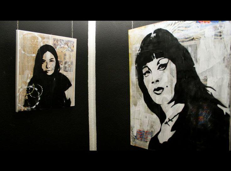 stencil Portraits Sala Vampiras