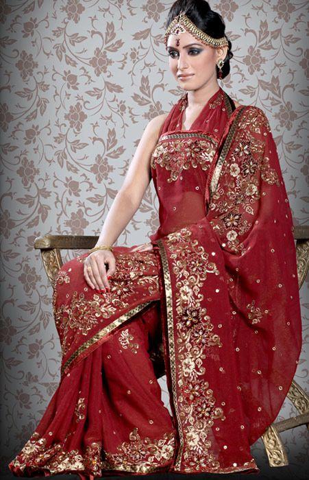 Indian Bridal Saree or sari ...