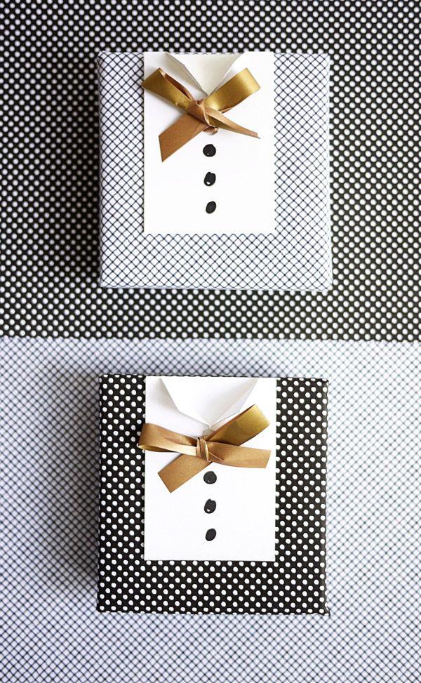 Paquet cadeau fête des pères - Smoking