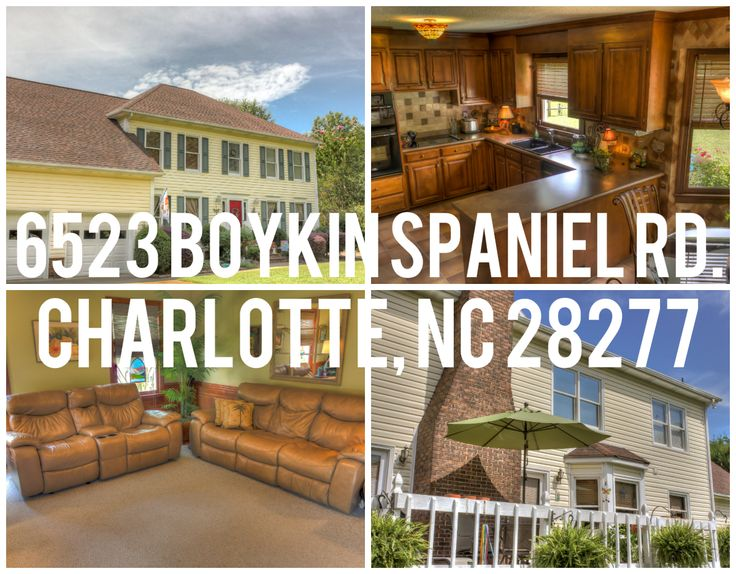 6523 Boykin Spaniel Rd. Charlotte, NC 28277 Amazing Charlotte NC home near Ballantyne.  Perfect family home located in a private cul-de-sac with huge backyard.