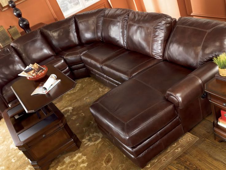 23 best leather sectional images on pinterest canapes for Best rated living room furniture