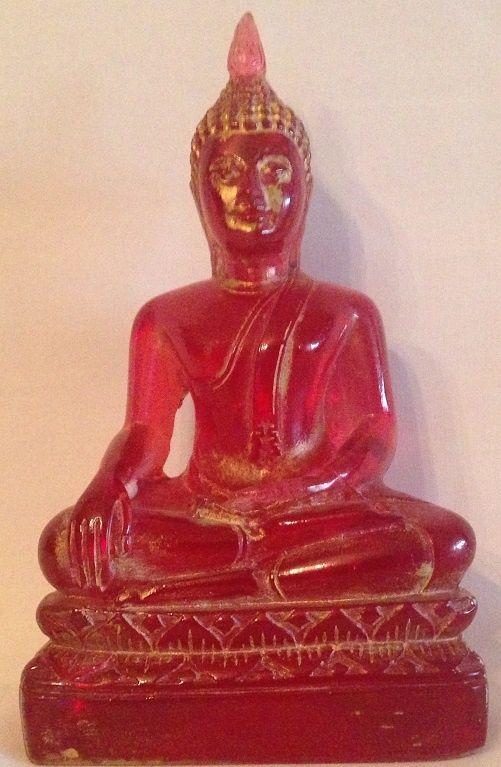 Boeddha aarde aanraking transparant rood € 8,95