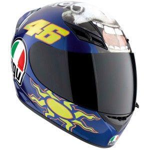 Valentino Rossi's 'Donkey' helmet from Misano 2009 MotoGP - http://replicaracehelmets.com/product/agv-k-3-valentino-rossi-donkey-helmet/