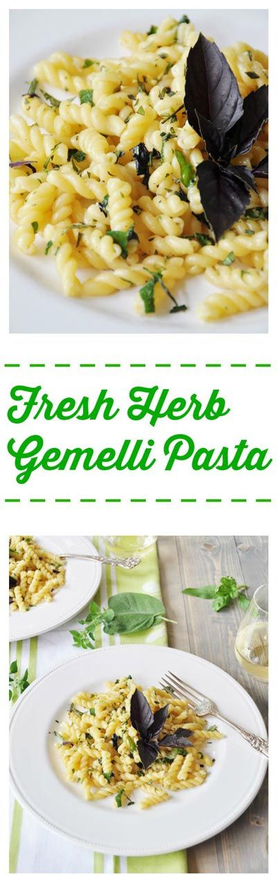 Fragrant basil, oregano, sage, and rosemary, mingles with garlic and olive oil to make a light and fresh summer pasta.