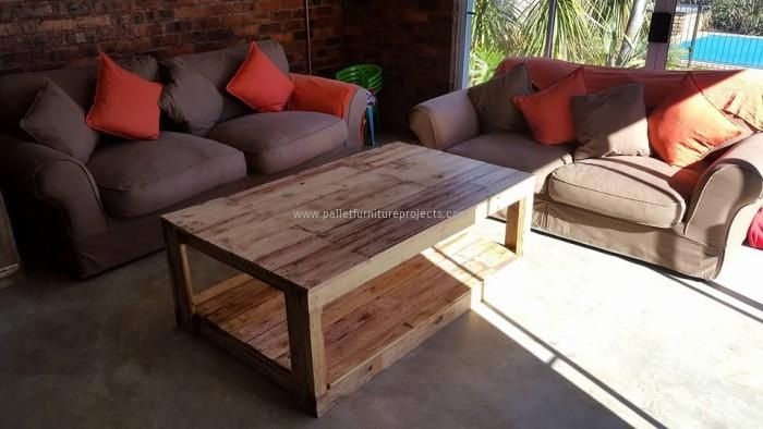 Pallet Wooden Large Coffee Table