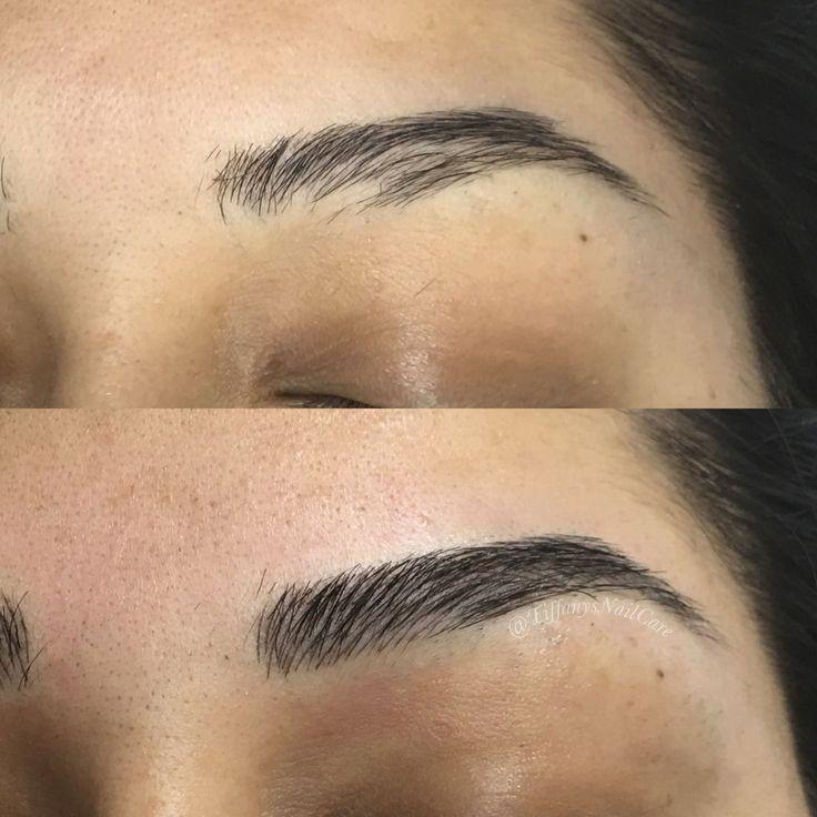 3d hair stroke semi permanent makeup hair makeup