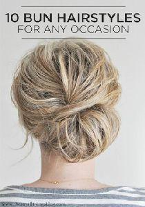 Bun Hairstyles For A…