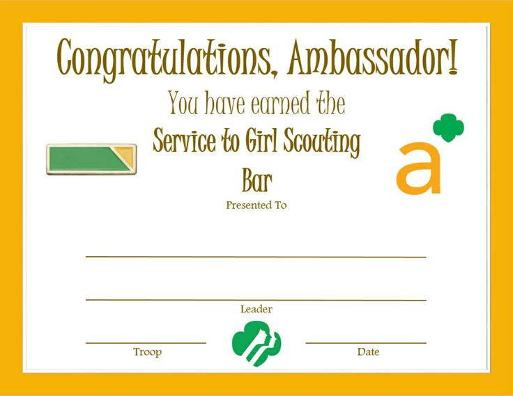 232 best Girl Scout certificates images on Pinterest Behavior - first aid certificate template