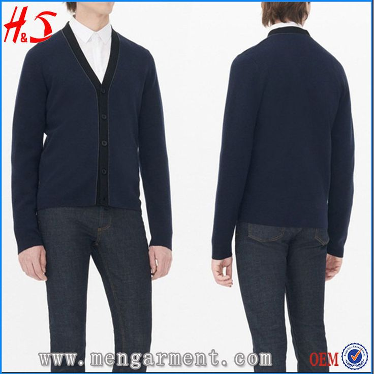 Fashion Winter Solid Color Cardigan Men Woolen Sweater Design Of Hot Selling Christmas Sweaters
