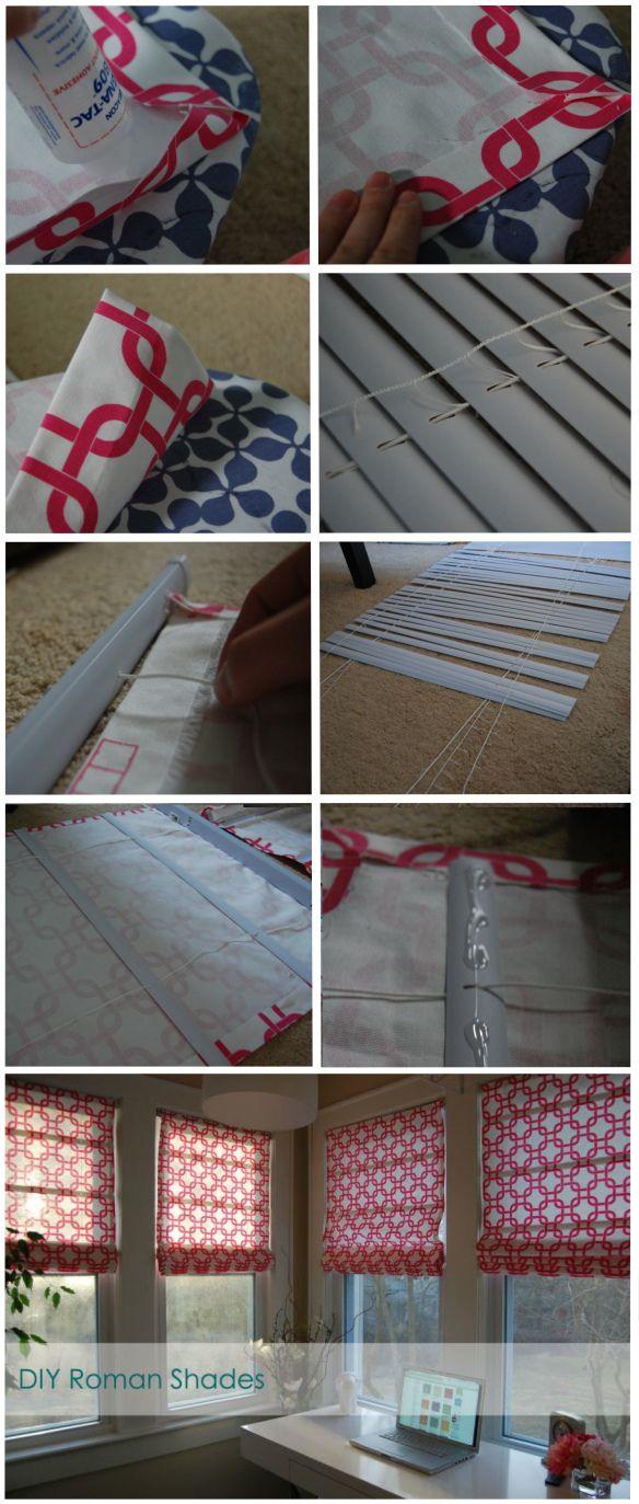 DIY Roman Shades @ Made2Style using blinds