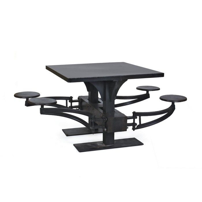 Restoration Warehouse Lunch Table | Dining Tables | Dining Room | Furniture | Candelabra, Inc.