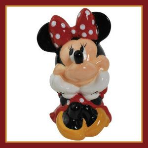 Disney Minnie Mouse Westland Giftware Ceramic Coin Banks For all Minnie Mouse fans, big or small this ceramic piggy bank is a collectible item. http://theceramicchefknives.com/ceramic-piggy-banks/  ATM Piggy Bank, Ceramic Piggy Banks, Disney Minnie Ceramic Piggy Bank, Disney Minnie Mouse,