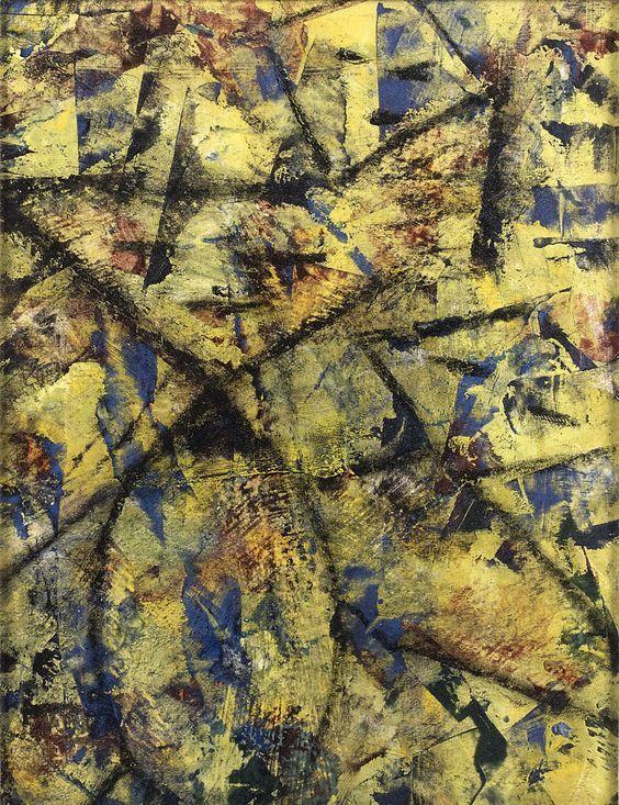 Αφηρημένη ζωγραφική (1957) Λάδι σε χαρτί