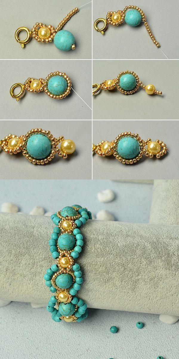 Wie das türkisfarbene Perlenarmband? Weitere Informationen erhalten Sie bei LC.Pandahall.com – Selber Machen