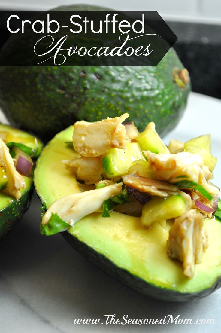 ... avocado on Pinterest | Avocado crab salad, Stuffed avocado and Crab