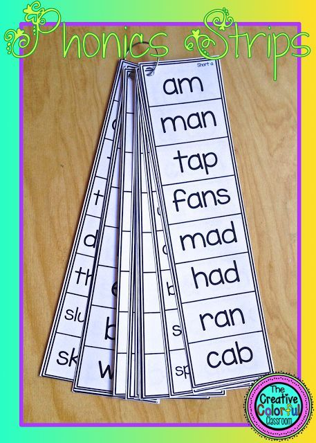 Phonics Strips! 87 Strips with first grade phonics skills and challenge strips included!
