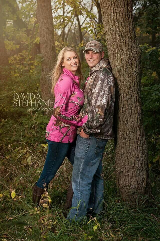 Awesome camo engagement photo!