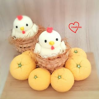 Loving Creations for You: Mandarin Oranges and Yuzu Rooster Chiffon Cupcakes...