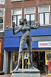 "Statue of Mata Hari in Leeuwarden, Netherlands. Also known as ""skittle tits""."
