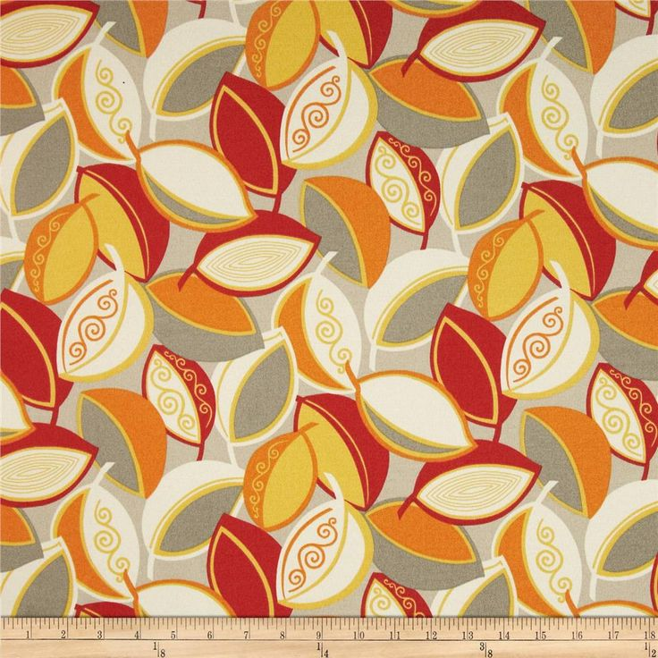 Swavelle/Mill Creek Indoor/Outdoor Kadry Daylight from @fabricdotcom  This indoor/outdoor fabric is stain and water resistant, very family friendly and perfect for outdoor settings and indoors in sunny rooms. It is fade resistant up to 500 hours of direct sun exposure. Create decorative toss pillows, cushions, chair pads, place mats, tote bags, slipcovers and upholstery. Colors include orange, yellow, red, ivory, taupey grey and tan.