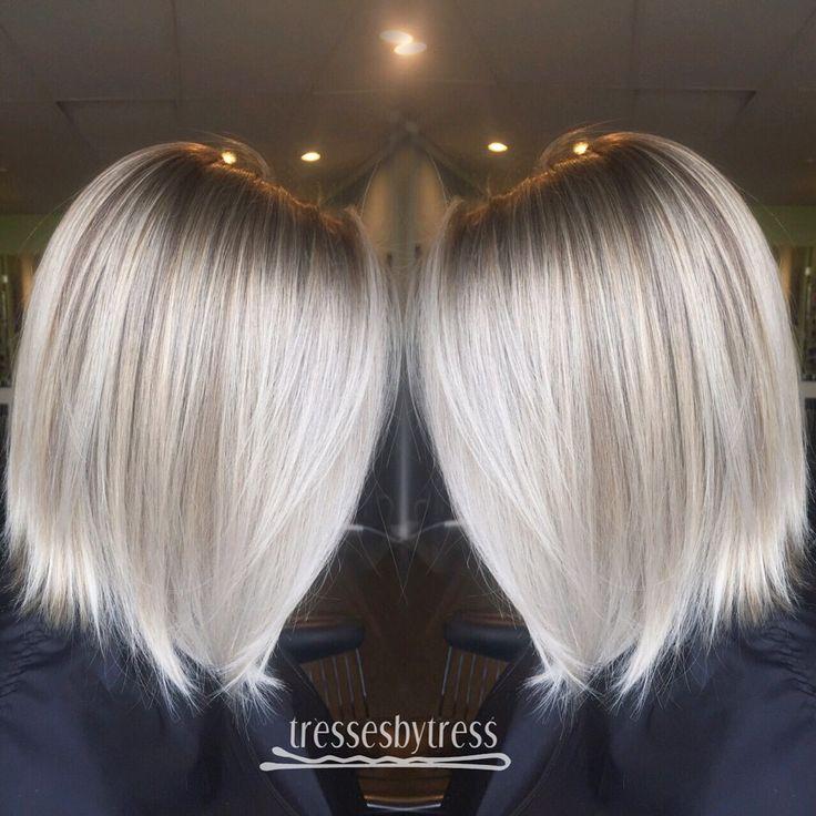 Icy Blonde Balayage Short Hair