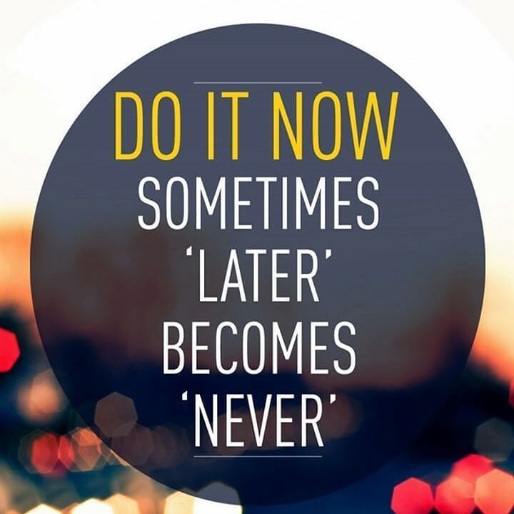 Procrastination ain't a tool for success. It's a definite way to fail because tomorrow never comes. Take action today learn apply teach. That's what successful people do. Let me help you by clicking the link in my bio.
