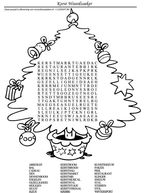 Kerst Woordzoeker
