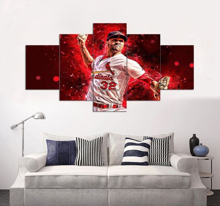 St Louis Cardinals 5 Panel Canvas Wall Art Mlb Baseball Wall Art In 2020 Sports Wall Art Baseball Wall Art Sports Wall Decor