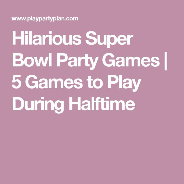 These hilarious Super Bowl party games are perfect for kids or for adults and they're quick enough that you could play during halftime or a commercial break!