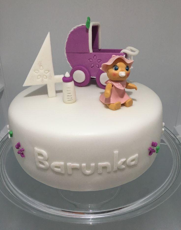 Baby-Carriage Cake, dort s kocarkem