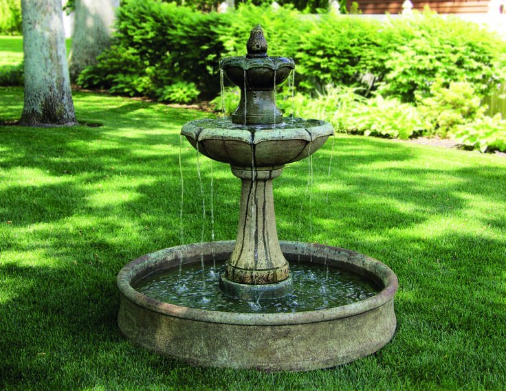 The Medium Two Tier Charlotte Fountain On Pool Is One Of UK Water Features  Favorite Massarelli