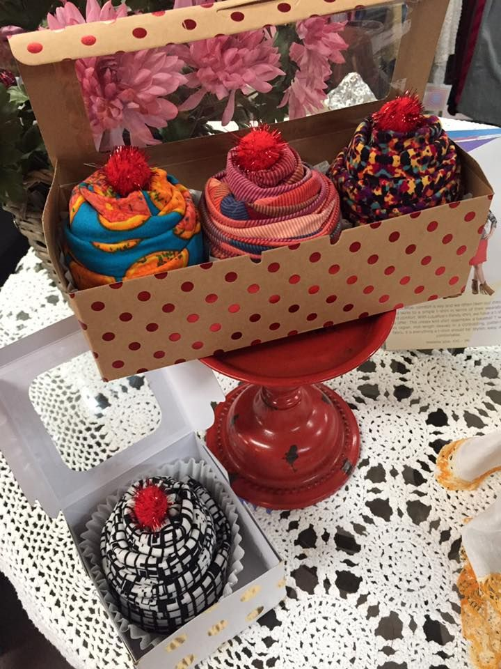 Lularoe Leggings wrapped like cupcakes. Great holiday gifts. Ask me to put a gift together for you!!