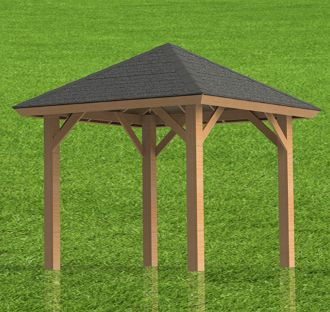 Gazebo Plans Hip Roof Perfect For Hot Tubs 10 X 12