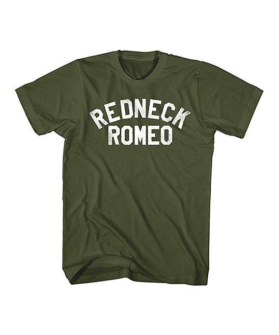Military Green 'Redneck Romeo' Tee - Men's Regular & Big