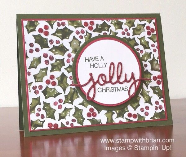 Holly Jolly Greetings, Christmas Greetings Thinlits, Stampin' Up!, Brian King, MM170: