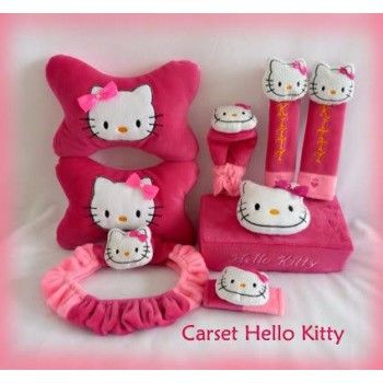 Bantal Mobil Set 6 In 1 Hello Kitty Pink https://www.bukalapak.com/chamboja