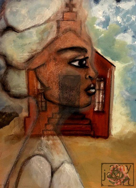 WILHELMINA - Original Artwork - Southwestern Art PRINT - Mixed Media Art - Ghost Town Arizona Painting 8x10 11x14 16x 20 by AmyJoyArt on Etsy