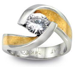 Unique Modern Diamond Engagement Rings | ... at Elsa Jewelry - Designer Diamond Jewelry Style at Elsarings.com