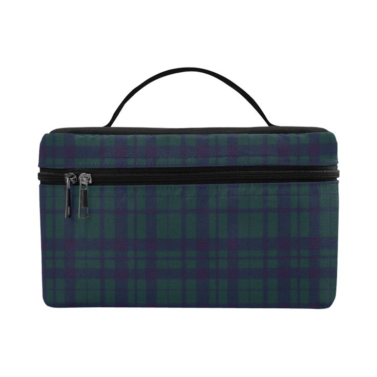 Green Plaid Hipster Style Cosmetic Bag/Large by Scar Design. #toiletrybag #toiletry #cosmeticbag #travelbag #travel #weekendtravelbag #family #onlineshopping #shopping #artsadd #gifts #scardesign #bag #style #fashion #giftsforhim #giftsforher #39 #design #modern  #toiletrytravelbag #plaid #plaidpattern #green #purple #trendy