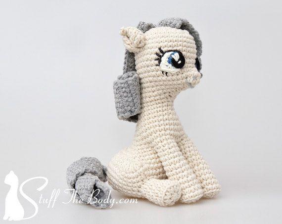 Sitting Pony Amigurumi Pattern Seamless Pony by StuffTheBody