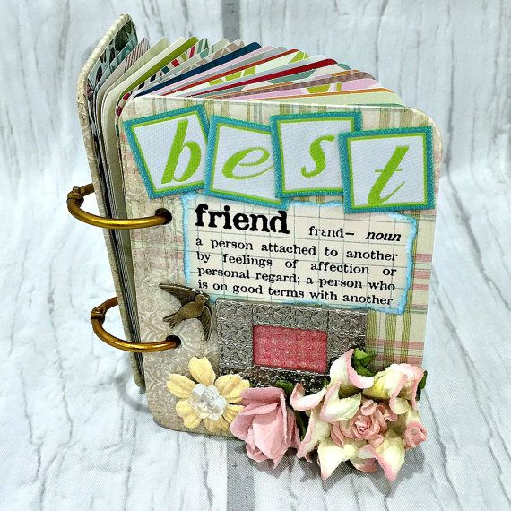 BEST FRIEND A-Z Friendship Scrapbook Photo Mini Album