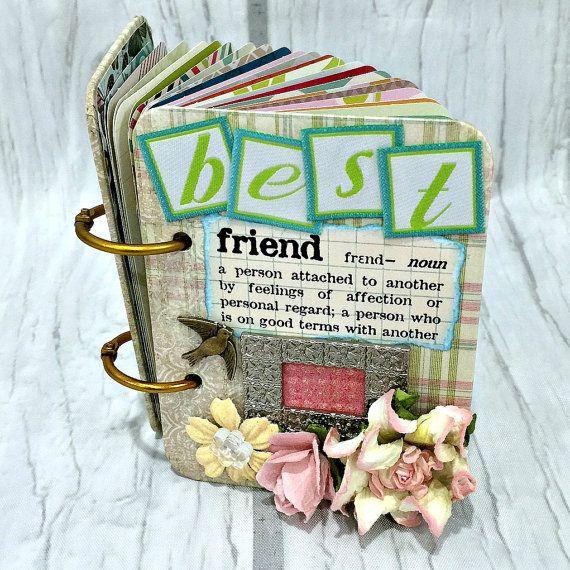 BEST FRIEND A-Z Friendship Scrapbook Photo Mini Album
