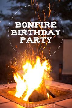 Bonfire birthday party | Super cute ideas for food, decorations and fun…