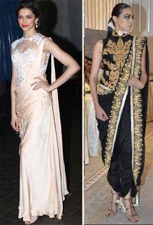 Z Fashion Trend: INDO WESTERN STYLE SAREE DRAPE
