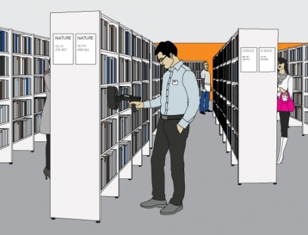 The Nordic ID Merlin HF RFID Blade keeps your books, documents and/or archives nice and tidy, it is so organized! :)