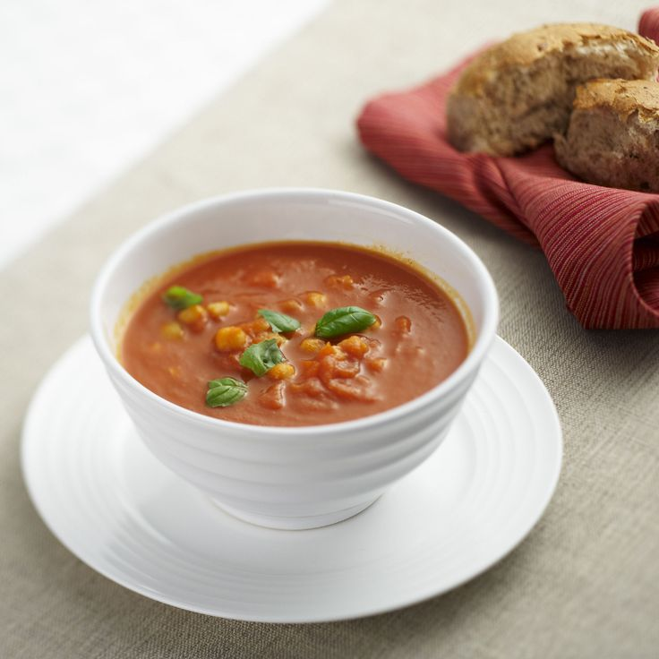 Tomato and Chickpea Soup  This soup is super healthy and a delicious, hearty vegetarian option. Make it a little Moroccan by adding some spice and accompanying with flatbread.  #Vegetable #Moroccan